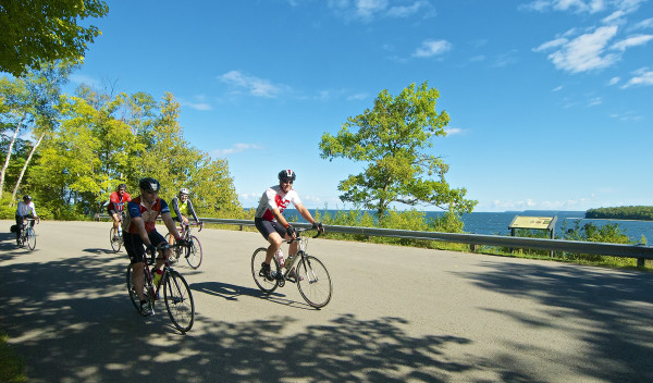 The 50, 62, and 100 mile routes all take riders through beautiful Peninsula State Park. Photo by Len Villano